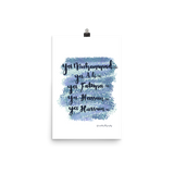 Holy Household - Malikalligraphy Poster