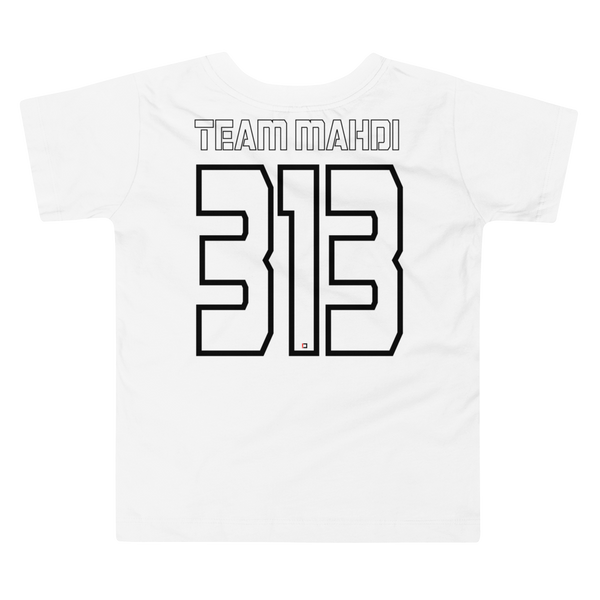 Team Mahdi Black - Bella + Canvas 3001T Toddler Short Sleeve Tee