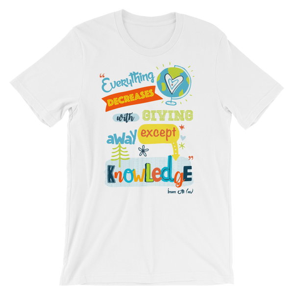 Give Knowledge - Bella + Canvas 3001 Adult Short-Sleeve Unisex T-Shirt