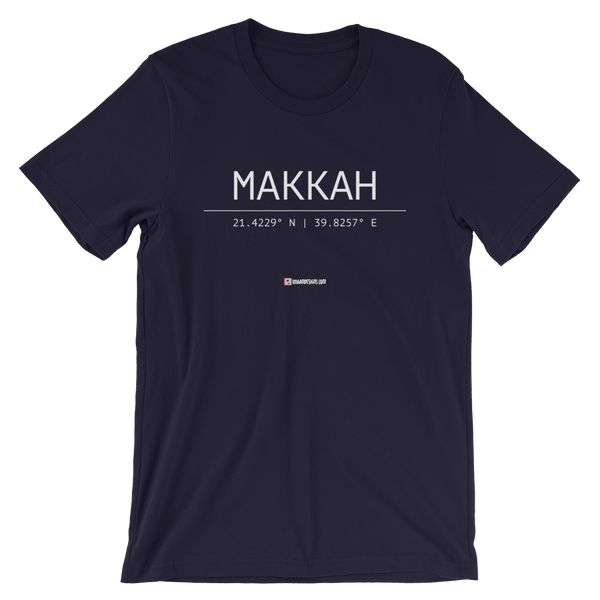 Holy Coordinates - Makkah - Bella + Canvas 3001 Adult Short-Sleeve Unisex T-Shirt