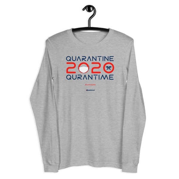 Quarantine = Quran Time - Unisex Long Sleeve Tee | Bella + Canvas 3501