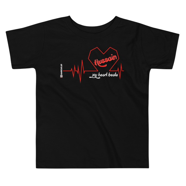 My Heart Beats Hussain - Bella + Canvas 3001T Toddler Short Sleeve Tee