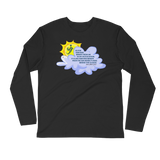 Sun Behind Clouds - Next Level Premium Adult Long Sleeve Fitted Crew