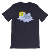 Sun Behind Clouds - Bella + Canvas 3001 Adult Short-Sleeve Unisex T-Shirt