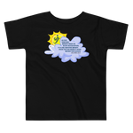 Sun Behind Clouds - Bella + Canvas 3001T Toddler Short Sleeve Tee