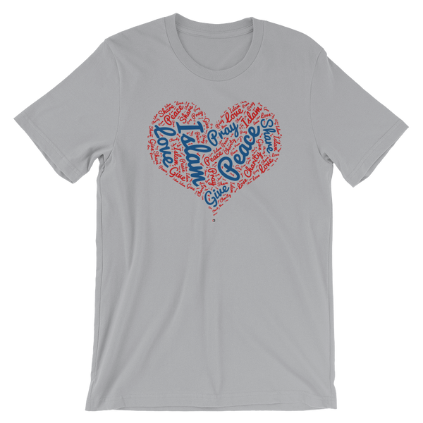 Love Islam - Bella + Canvas 3001 Adult Short-Sleeve Unisex T-Shirt
