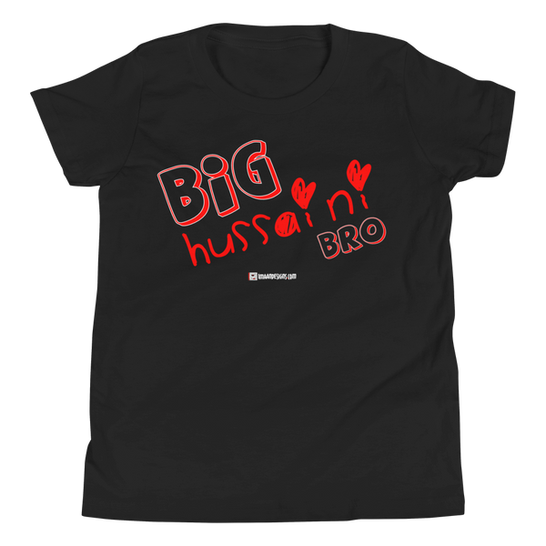 Big Hussaini Red - Bella + Canvas 3001Y Youth Short Sleeve Tee