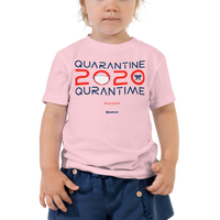 Quarantine = Quran Time - Bella + Canvas 3001T Toddler Short Sleeve Tee