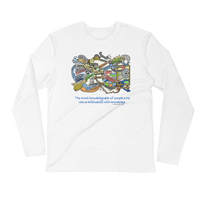 Knowledge Infatuation - Next Level Premium Adult Long Sleeve Fitted Crew