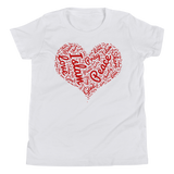 Love Islam Red - Bella + Canvas 3001Y Youth Short Sleeve Tee