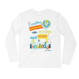 Give Knowledge - Next Level Premium Adult Long Sleeve Fitted Crew