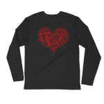 Love Islam Red - Next Level Premium Adult Long Sleeve Fitted Crew