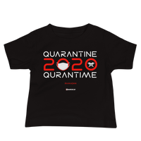Quarantine = Quran Time - Bella + Canvas 3001YB Baby Jersey Short Sleeve Tee