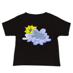 Sun Behind Clouds - Bella + Canvas 3001YB Baby Jersey Short Sleeve Tee