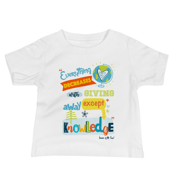 Give Knowledge - Bella + Canvas 3001YB Baby Jersey Short Sleeve Tee