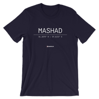 Holy Coordinates - Mashad - Bella + Canvas 3001 Adult Short-Sleeve Unisex T-Shirt