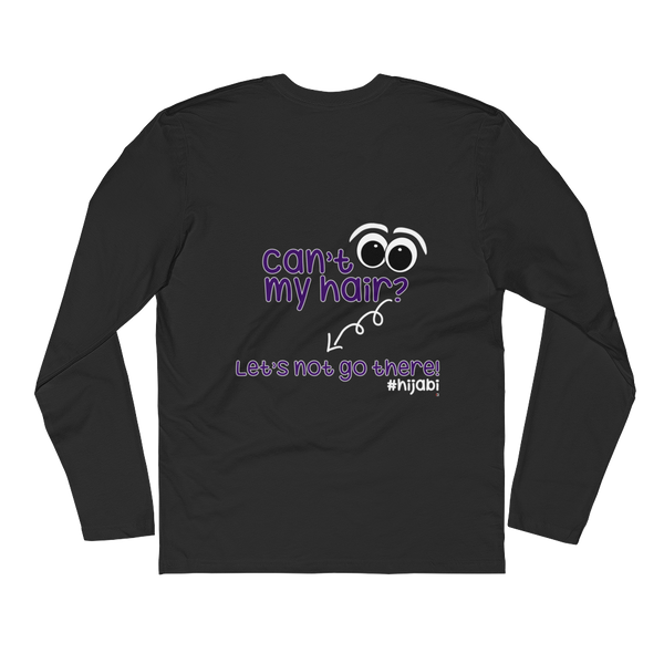 Can't See - Next Level Premium Adult Long Sleeve Fitted Crew