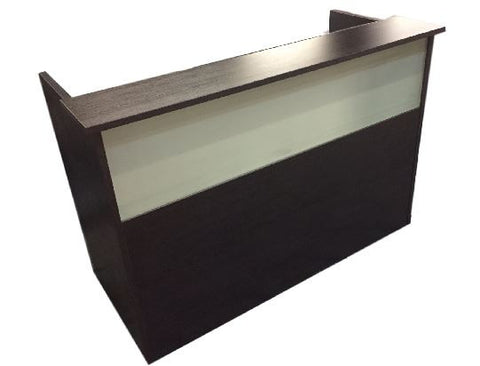 Direct - Modern reception desk with a frosted front glass.
