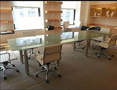 Expo -Modern tempered glass Frosted conference table