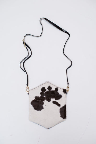CROSSBODY NATURAL CALF - Ruti Horn, #THEHEX COLLECTION