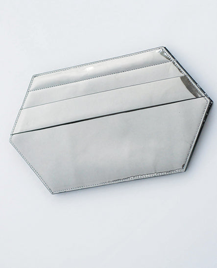 MIRRORED LEATHER CLUTCH