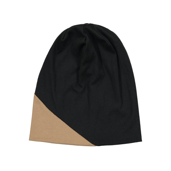 SIGNATURE DIAGONAL COLORBLOCK BEANIE - Ruti Horn, HAIR ACCESSORIES