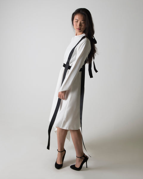 RIBBON HALF HARNESS DRESS - Ruti Horn, Apparel