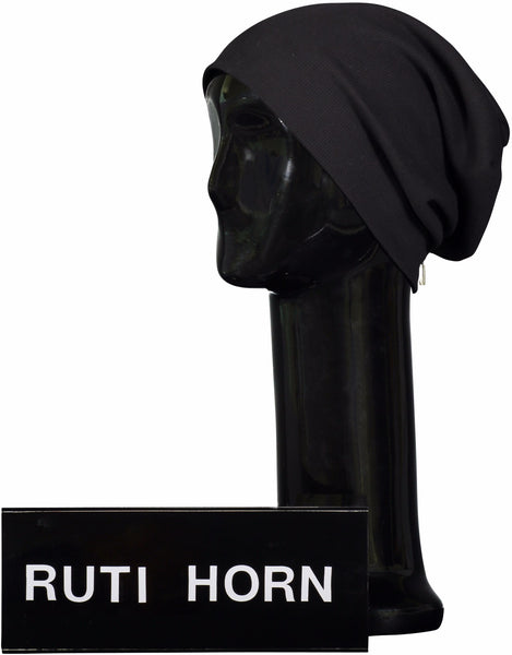 SIGNATURE SOFT RIBBED BEANIE - Ruti Horn, HAIR ACCESSORIES