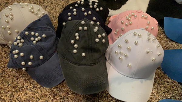 PEARLS STUDDED CAP