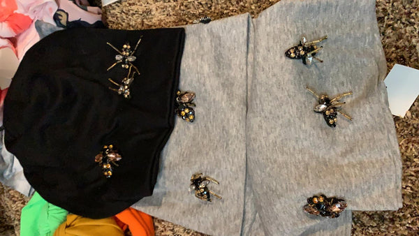 ASSORTED EMBELLISHED BUGS BEANIES