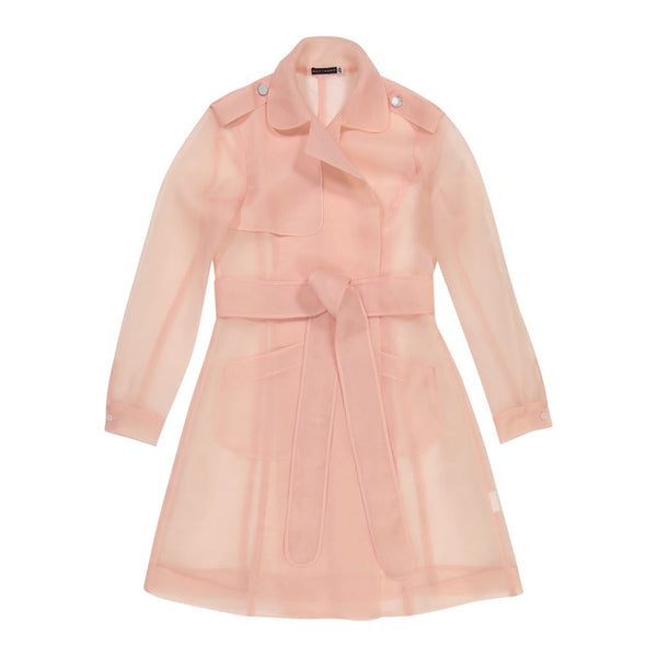 Sheer Trench Overlay Pink - Ruti Horn, Apparel