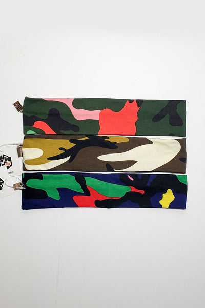 HALF SIZE CAMOUFLAGE HEADWRAP