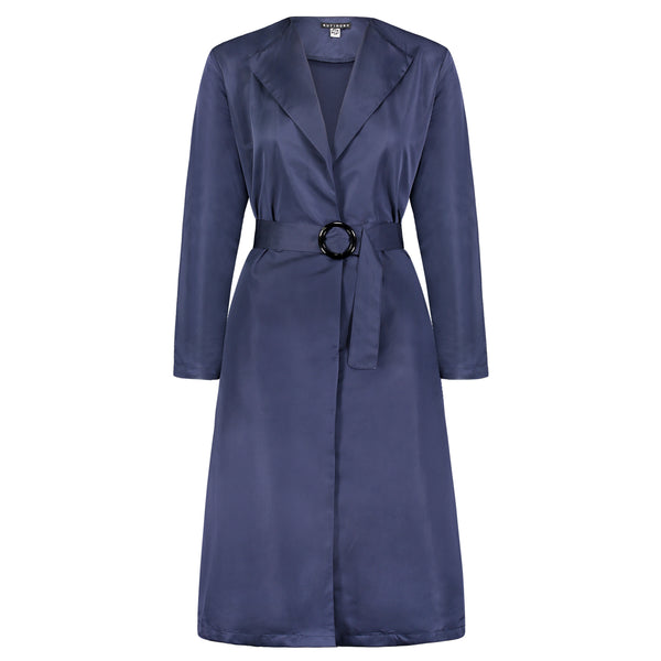 MOCK TRENCH NAVY BLUE - Ruti Horn, Apparel