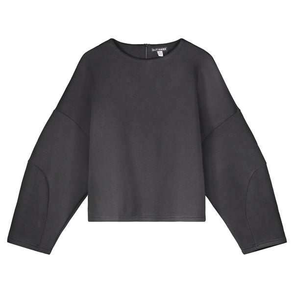 BLACK OVERSIZED STRUCTURED CROP TOP - Ruti Horn, Apparel