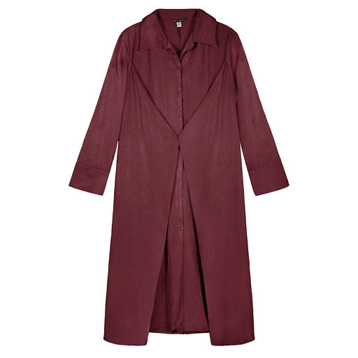 TUCKED SHIRTDRESS WINE