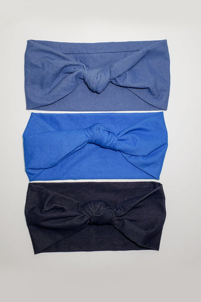 JEAN STRETCH KNOT HAIRBAND