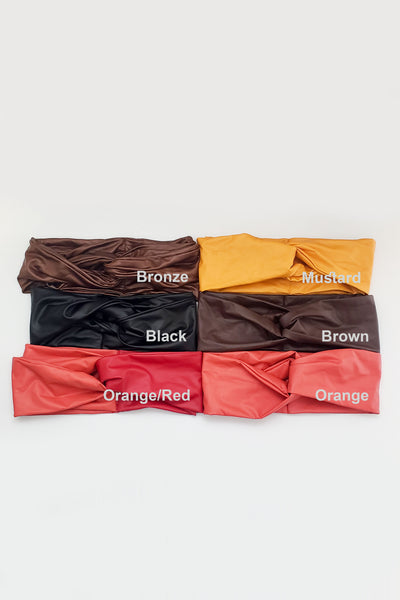 VEGAN LEATHER TURBANDS