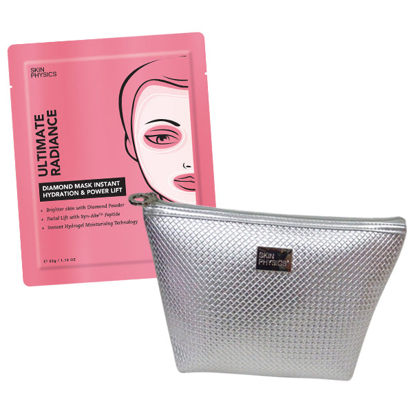 Diamond Mask Instant Hydration & Power Lift + Cosmetic Bag