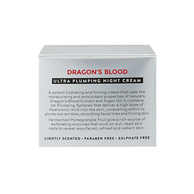 Dragon's Blood Ultra Plumping Night Cream Product Information