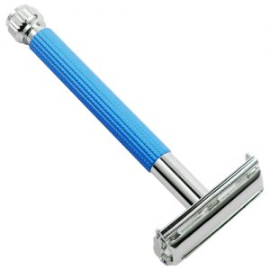 Parker 29L Long Handle Safety Razor- Blue