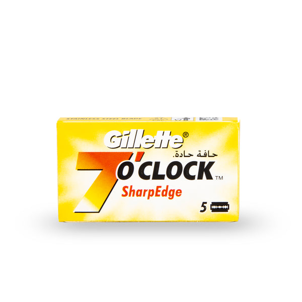 Gillette 7 O'Clock Sharp Edge Double Edge Safety Razor Blades (Yellow)