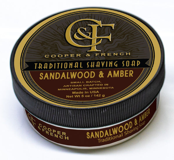 "Cooper and French Shave Soap ""Sandalwood and Amber"""