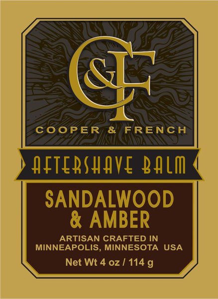 "Cooper and French Aftershave Balm ""Sandalwood and Amber"""
