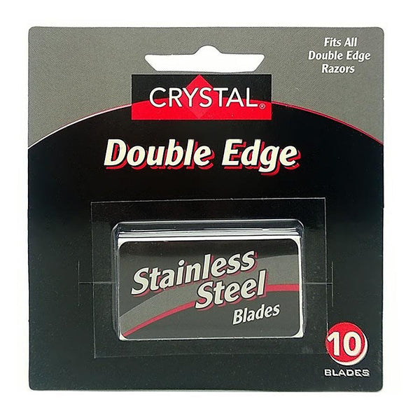 Crystal Double Edge Stainless Steel Blades (10 Pack)