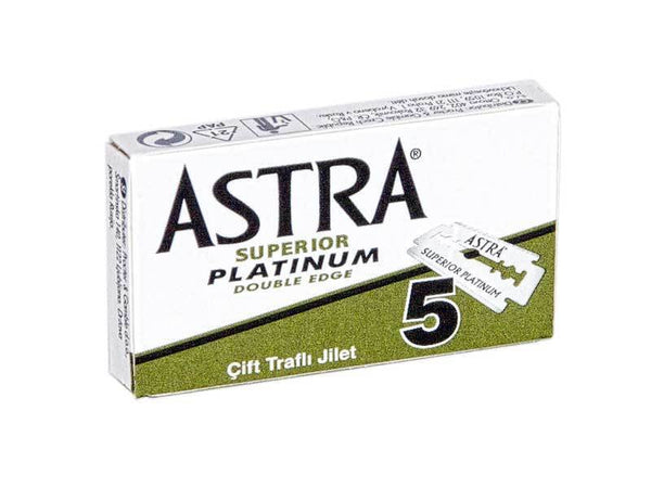 Astra Superior Premium Platinum Double Edge Safety Razor Blades- 100 count.
