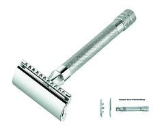 Merkur Double Edge Safety Razor, Straight Cut, Extra Long Handle
