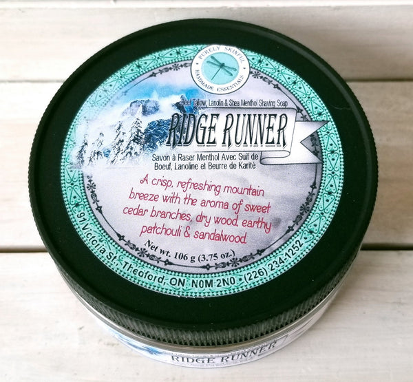 Purely Skinful Handmade Essentials- Shave Soap- Ridge Runner with Menthol