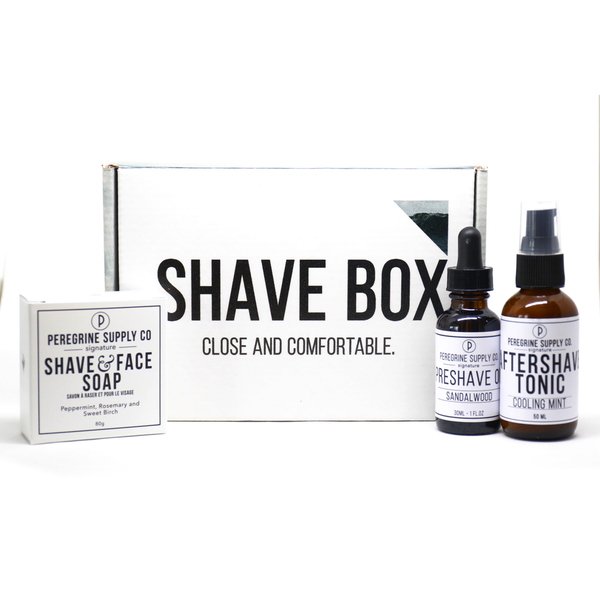 Peregrine Supply Co. Shave Box Gift Set