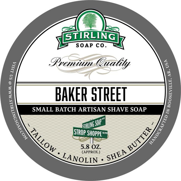 Stirling Soap Co. Baker Street Shave Soap