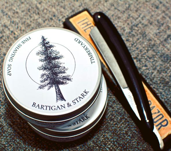 "Bartigan and Stark Fine Shaving Soap ""Timberyard"""